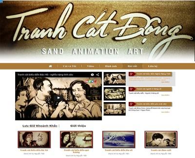 Thiết kế website tranh cát động