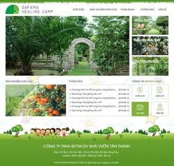Thiết kế website khu nghỉ dưỡng vui chơi trẻ em