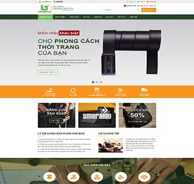 Thiết kế website Công ty CP XNK TM & DV KIM BẢO