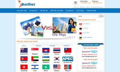 Thiết kế Website cho dịch vụ Visa, hộ chiếu